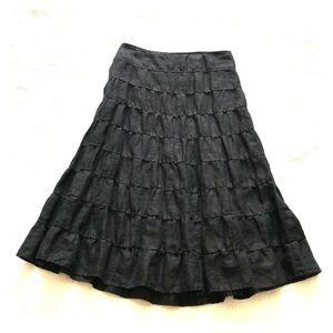 Lined linen skirt, size 4